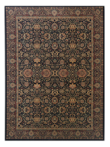 Sultano - Black 030K, Machine Made Area Rug - Jordans Floor Covering