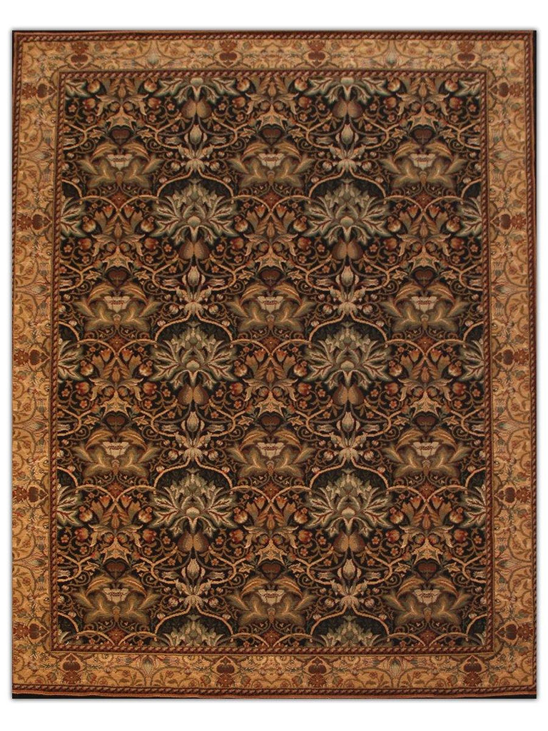 Sultano - Black 050K Machine Made Area Rug - Jordans Flooring