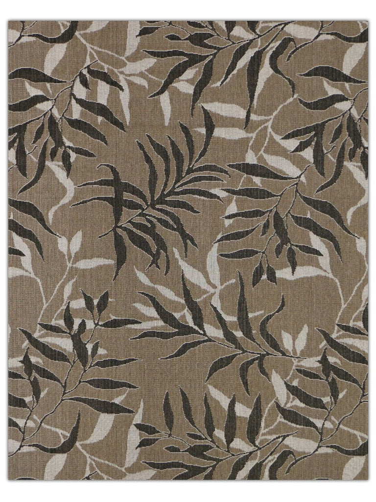 Terrace Outdoor - Tan Black 5568X Machine Made Area Rug - Jordans Flooring