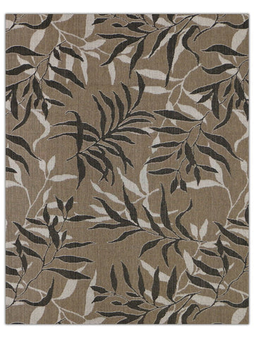 Terrace Outdoor - Tan Black 5568X, Machine Made Area Rug - Jordans Floor Covering