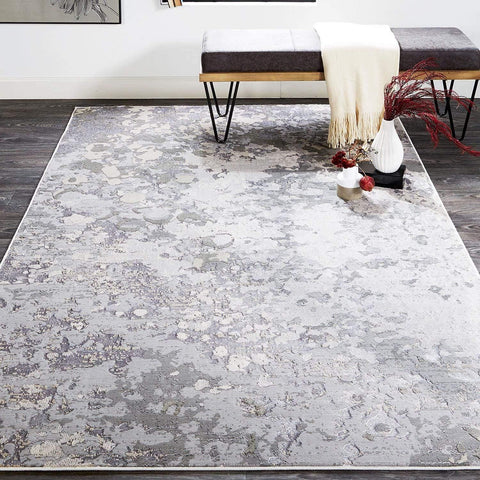 Alloy - Silver/Grey Area Rug - Jordans Flooring