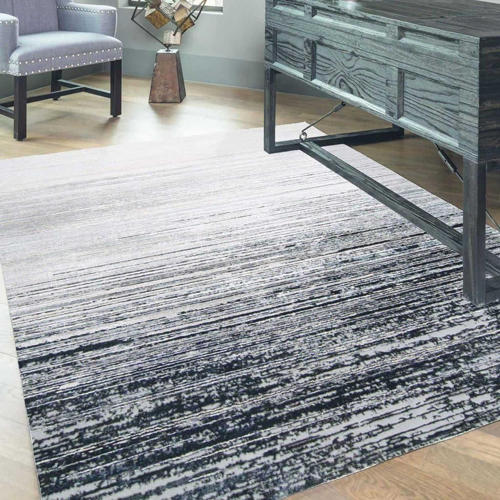 Alloy - Black/Dark Grey Area Rug - Jordans Flooring