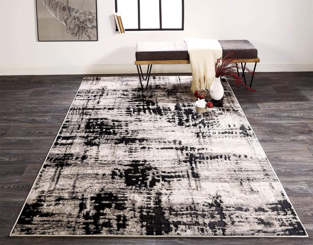 Alloy - Black Area Rug - Jordans Flooring