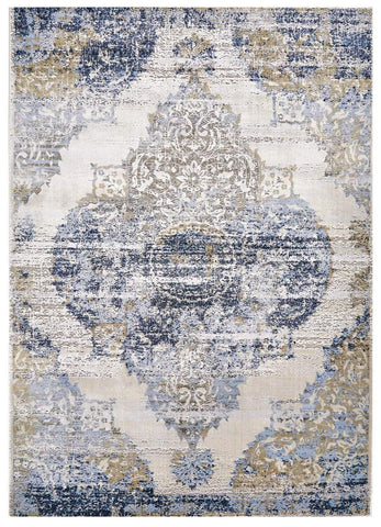 Trendsetter - White/Light Blue Area Rug - Jordans Flooring