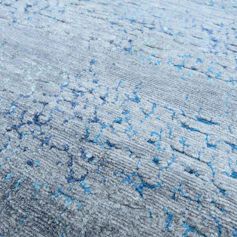 Cracked Up - Grey/Blue Area Rug - Jordans Flooring