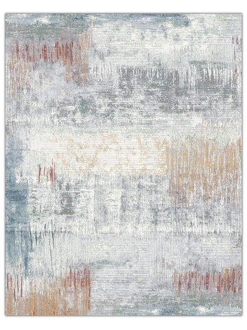 Designer Collection - Ice Blue 6656, Machine Made Area Rug - Jordans Floor Covering