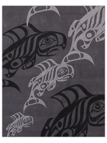 Northwest Coast - Grey Salmon, Area Rug - Jordans Floor Covering