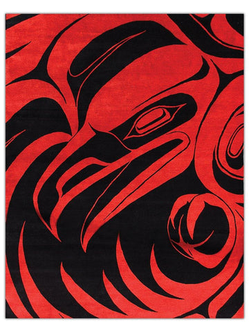 Northwest Coast - Red Raven, Area Rug - Jordans Floor Covering