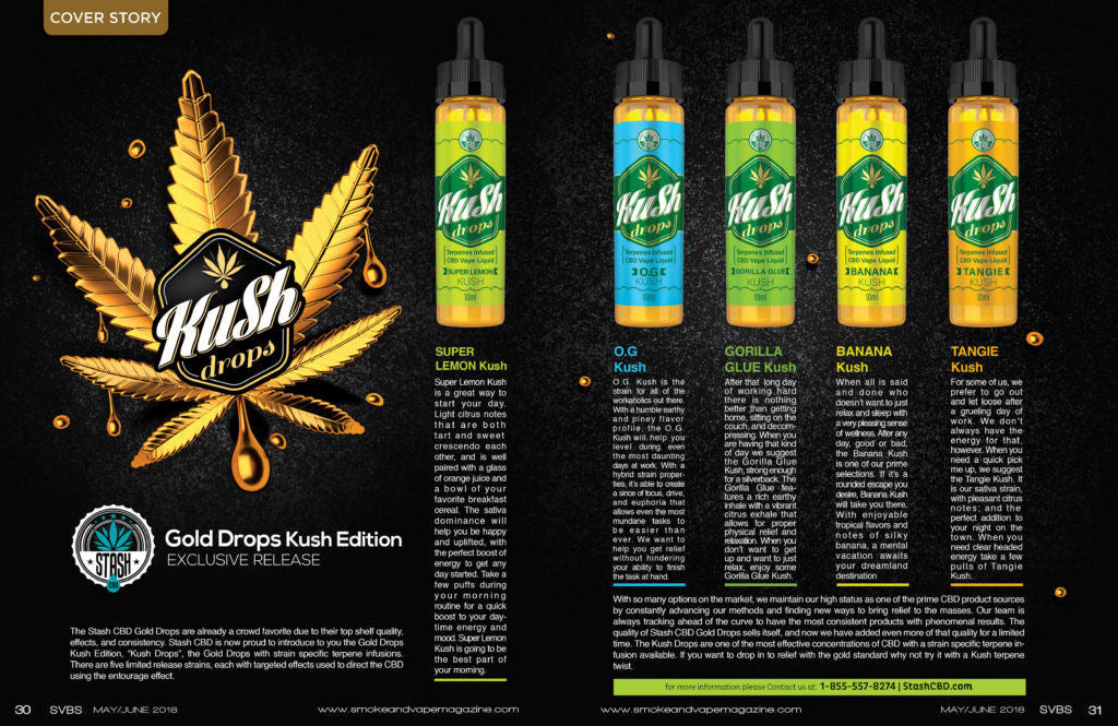 Smoke and vape magazine stash cbd cover story gold drops kush edition editorial