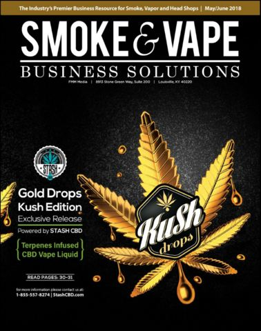 Smoke and vape magazine stash cbd cover story gold drops kush edition editorial may june 2018