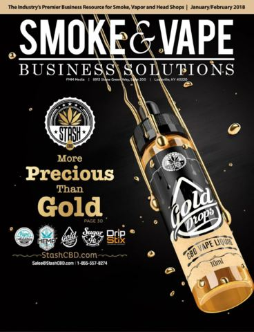 Smoke and vape magazine stash cbd cover story gold drops kush edition editorial January February 2018