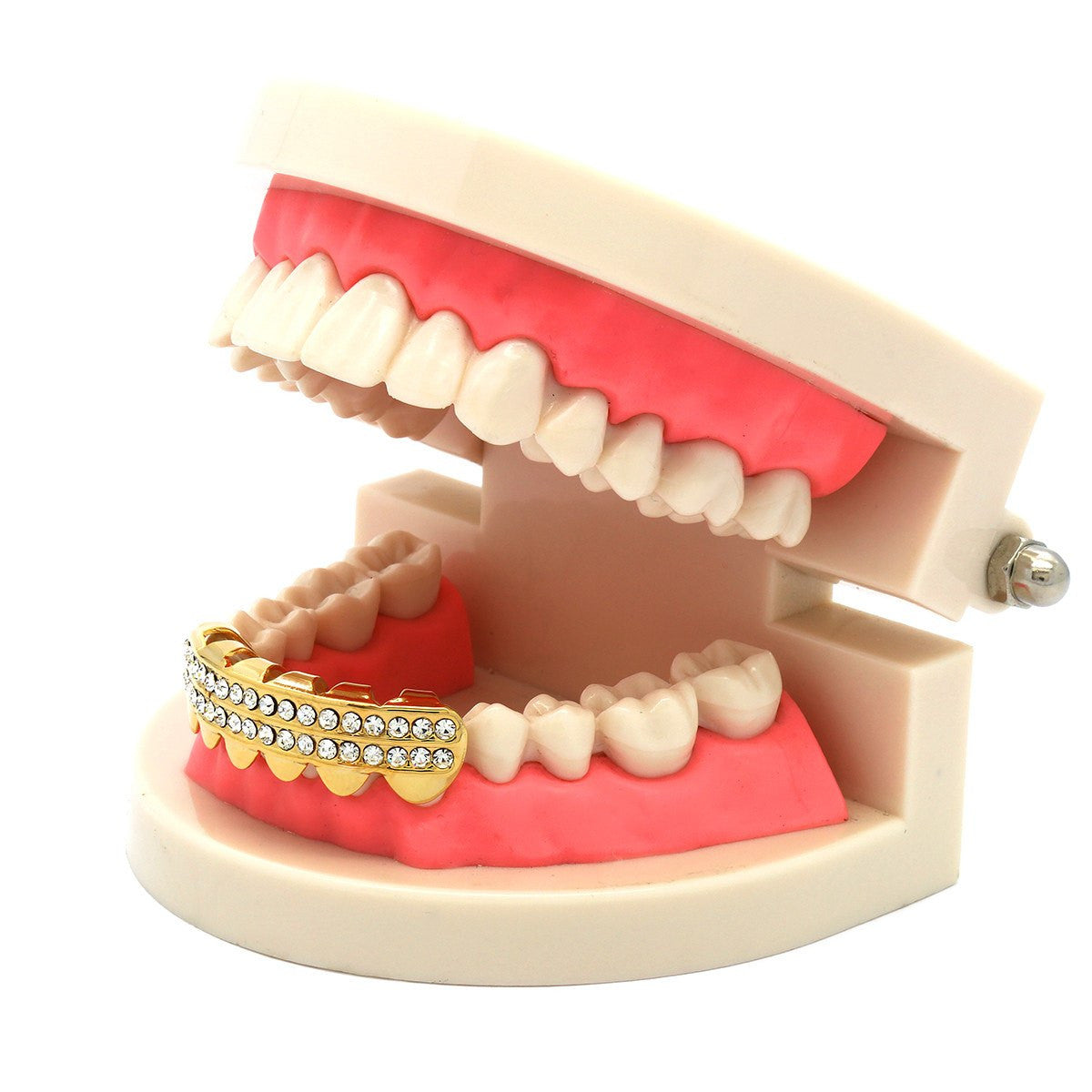 GOLD BOTTOM GRILLZ 2 ROW