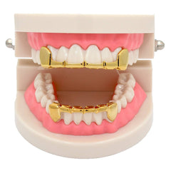 GRILLZ SET GOLD FANG  PLAIN HALF