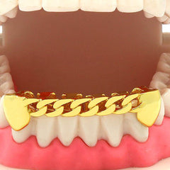GOLD BOTTOM GRILLZ CUBAN