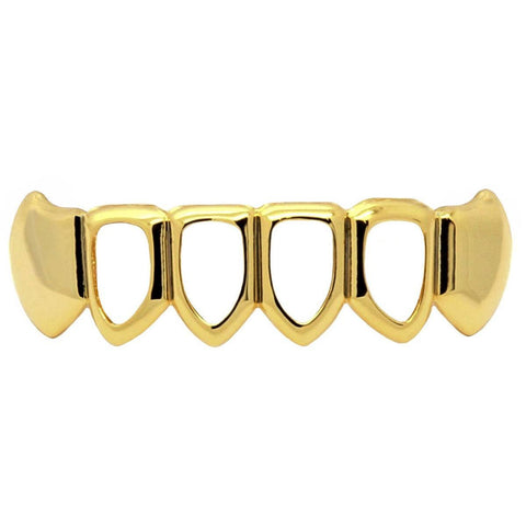 GOLD BOTTOM GRILLZ 4 OPEN FANG