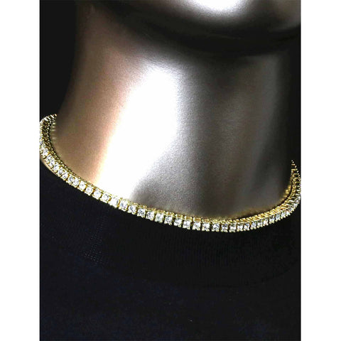 GOLD TENNIS CHAIN 16""