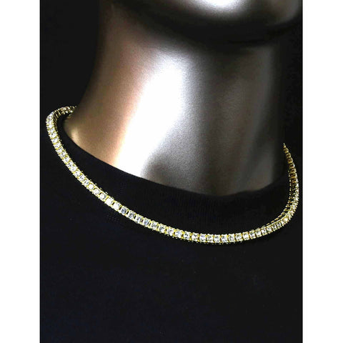GOLD TENNIS CHAIN 18""