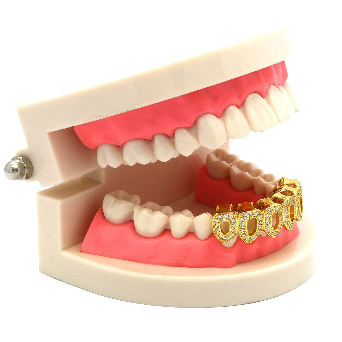 GOLD BOTTOM GRILLZ CZ 6 OPEN