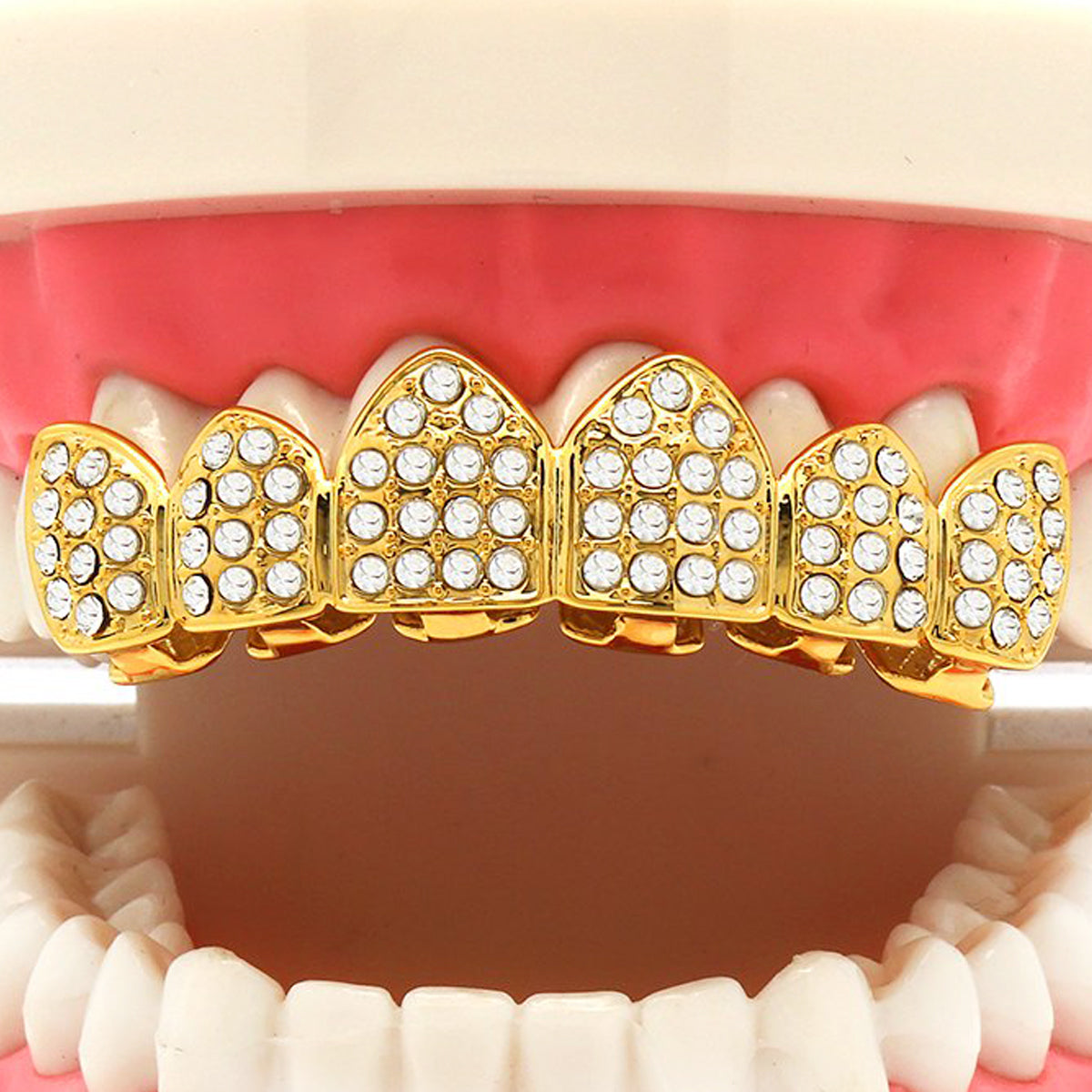 GOLD TOP GRILLZ FULL ICED OUT