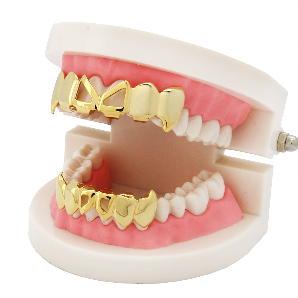 GRILLZ SET GOLD FRONT HOLLOW FANG