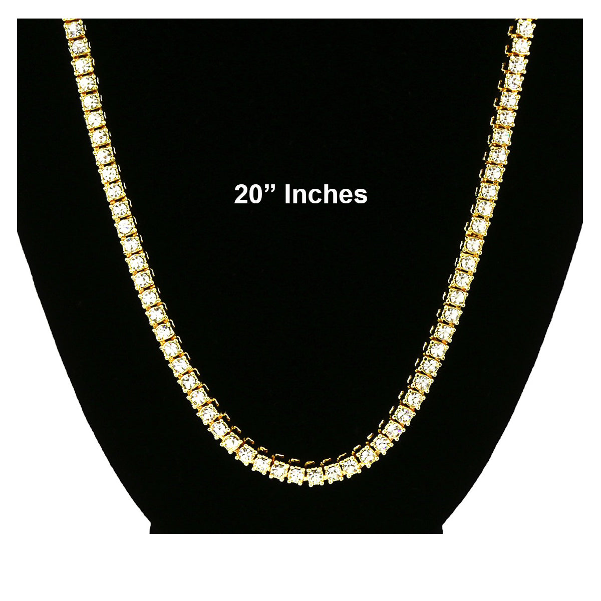 GOLD TENNIS CHAIN 20""