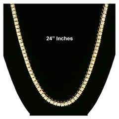 GOLD TENNIS CHAIN 24""