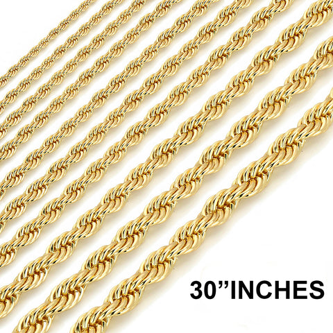 Gold Rope Chain 30""