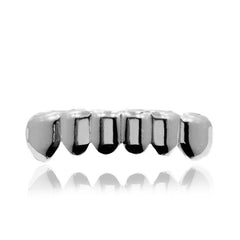GRILLZ SET SILVER PLAIN KINGSTAR