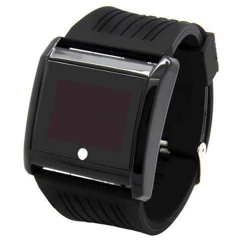 Touch Black Silicone Band Watch