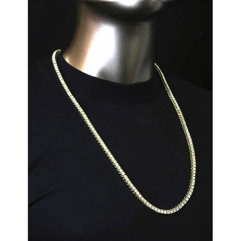 GOLD TENNIS CHAIN 30""