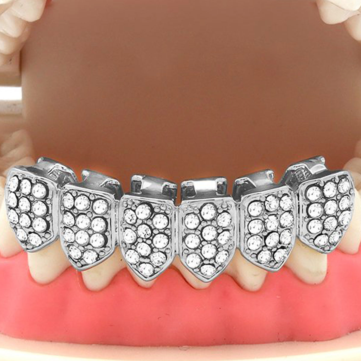 SILVER BOTTOM GRILLZ FULLY ICED