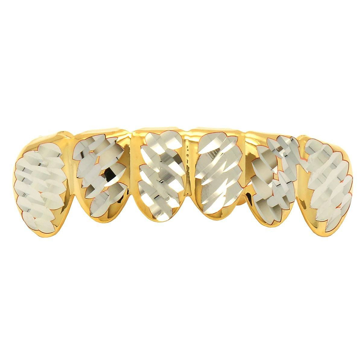 GRILLZ SET The Two-Tone Faceted