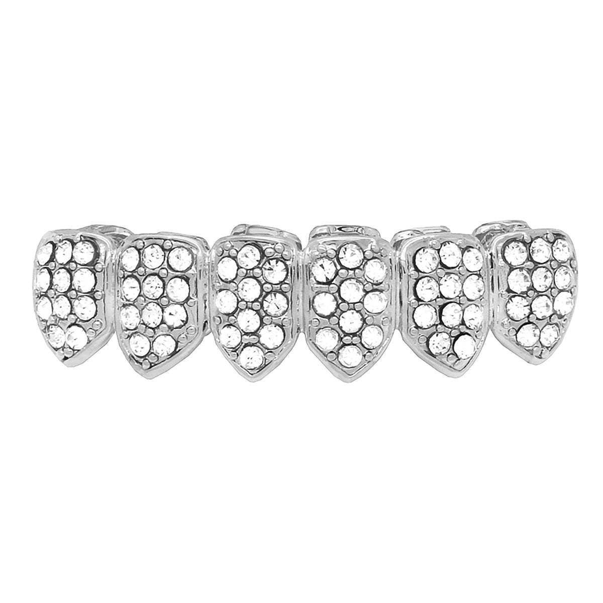GRILLZ SET SILVER FULLY STONE