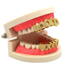 GRILLZ SET GOLD FANG CZ 4 OPENING