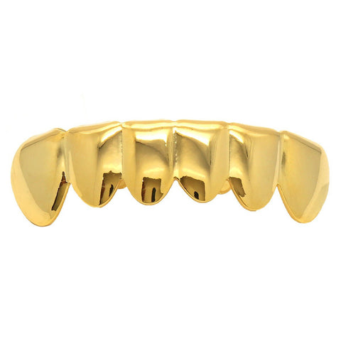 Gold Plated Bottom grillz for teeth.