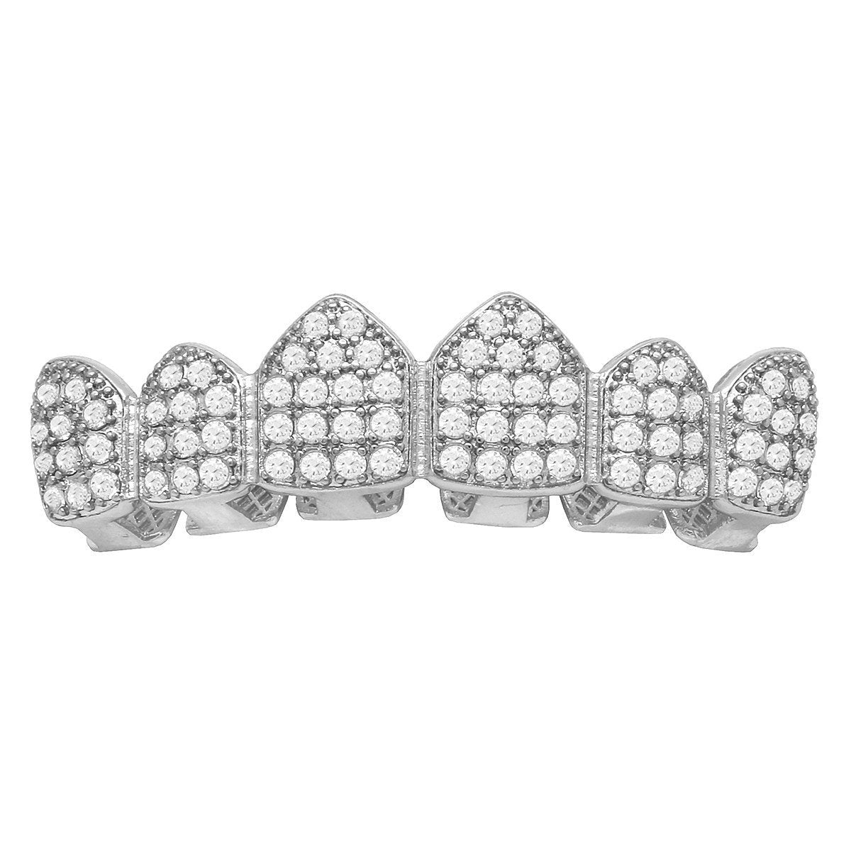 GRILLZ SET WHITE GOLD FULLY ICED OUT