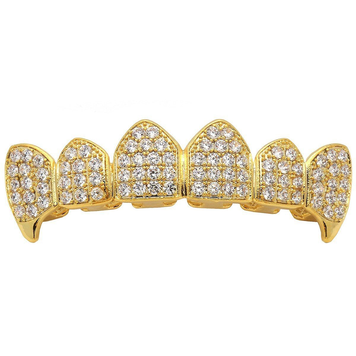 GRILLZ SET GOLD FANG FULLY CZ