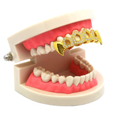 GOLD TOP GRILLZ 4 OPEN CZ FANG