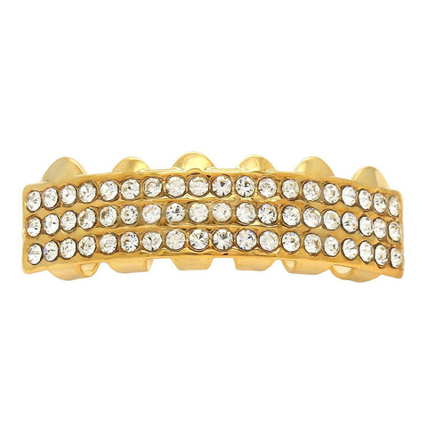 GOLD BOTTOM GRILLZ 3 ROW