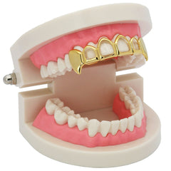 GOLD TOP GRILLZ 4 OPEN FANG