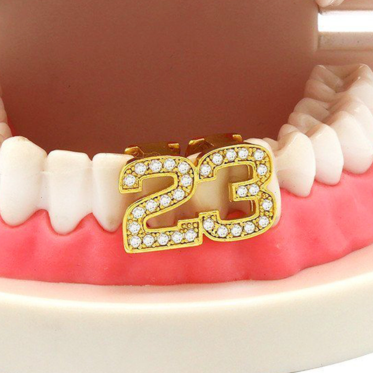 GOLD GRILLZ BOTTOM #23 CZ