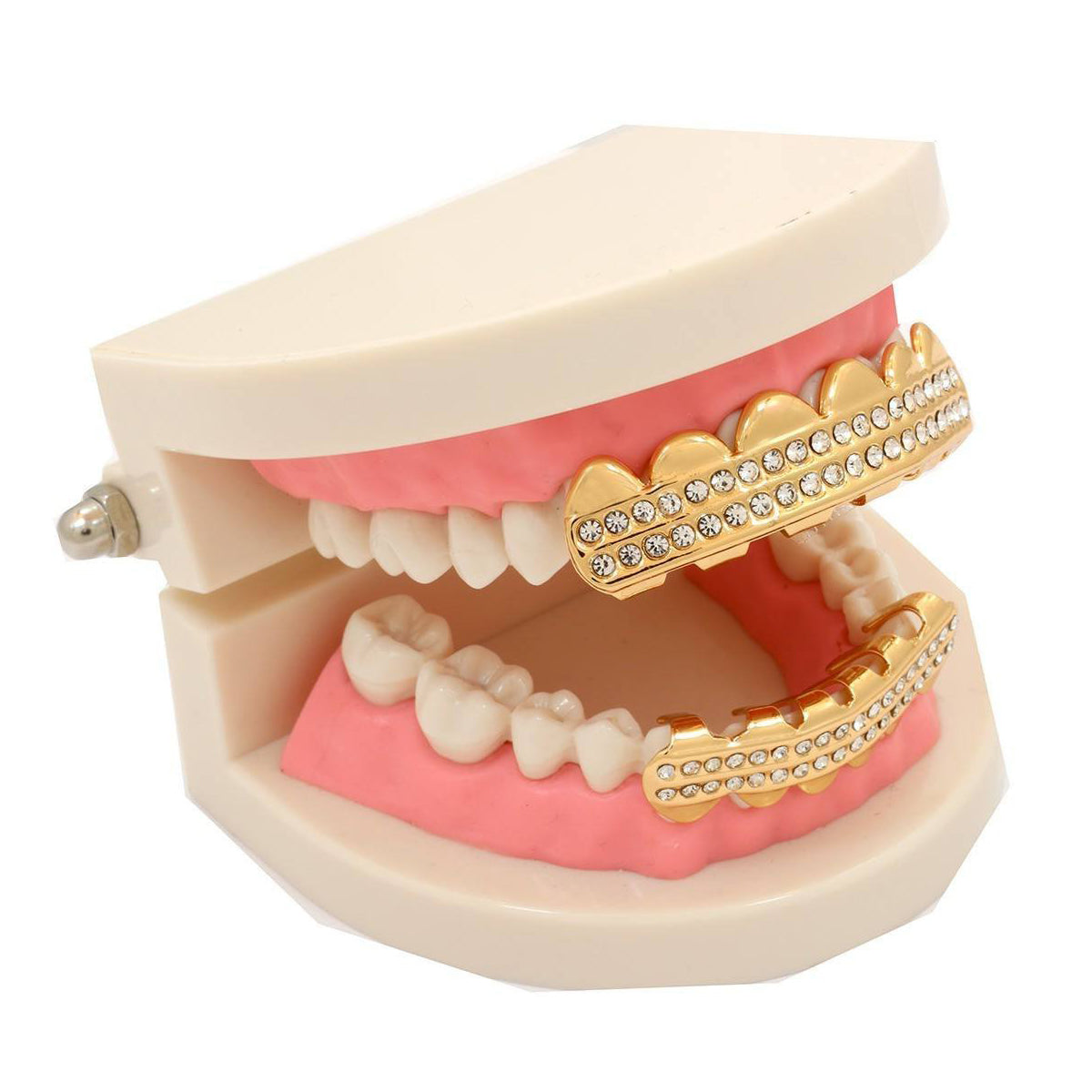 GRILLZ SET GOLD 2-ROW BLINGKINGSTAR