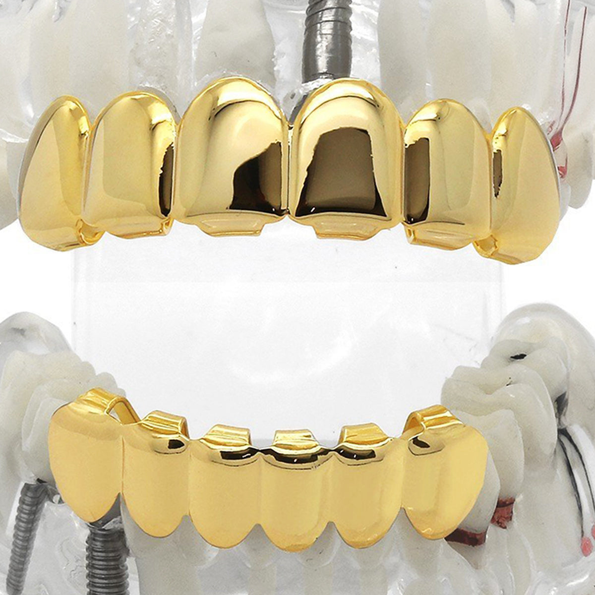 GRILLZ SET GOLD PLAIN