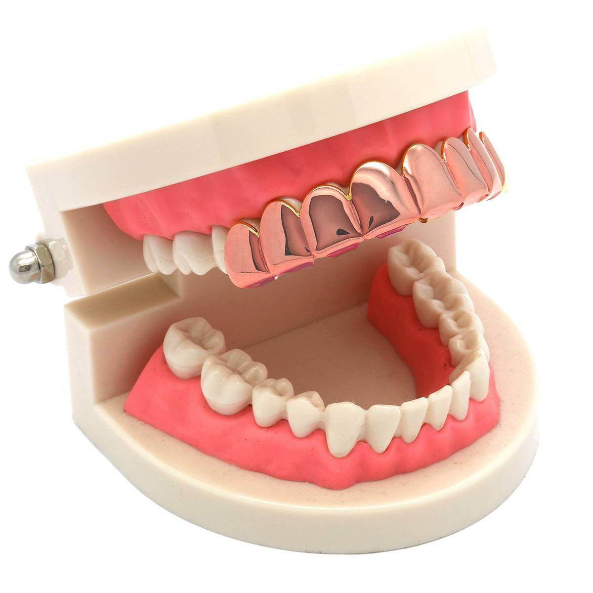 ROSE GOLD TOP GRILLZ 8 TOOTH
