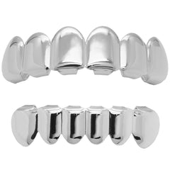 GRILLZ RHODIUM PLAIN BEST GRILLZ