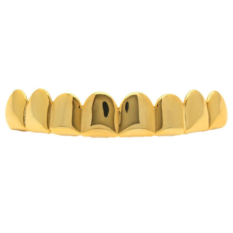 GOLD TOP GRILLZ 8 TEETH