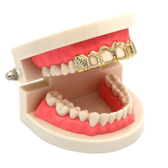 2-TONE TOP GRILLZ 4 OPEN DIAMOND CUT