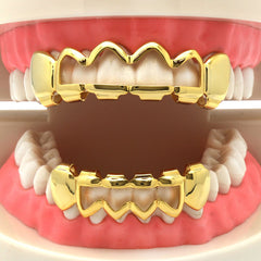 GRILLZ SET GOLD WAVE HOLLOW