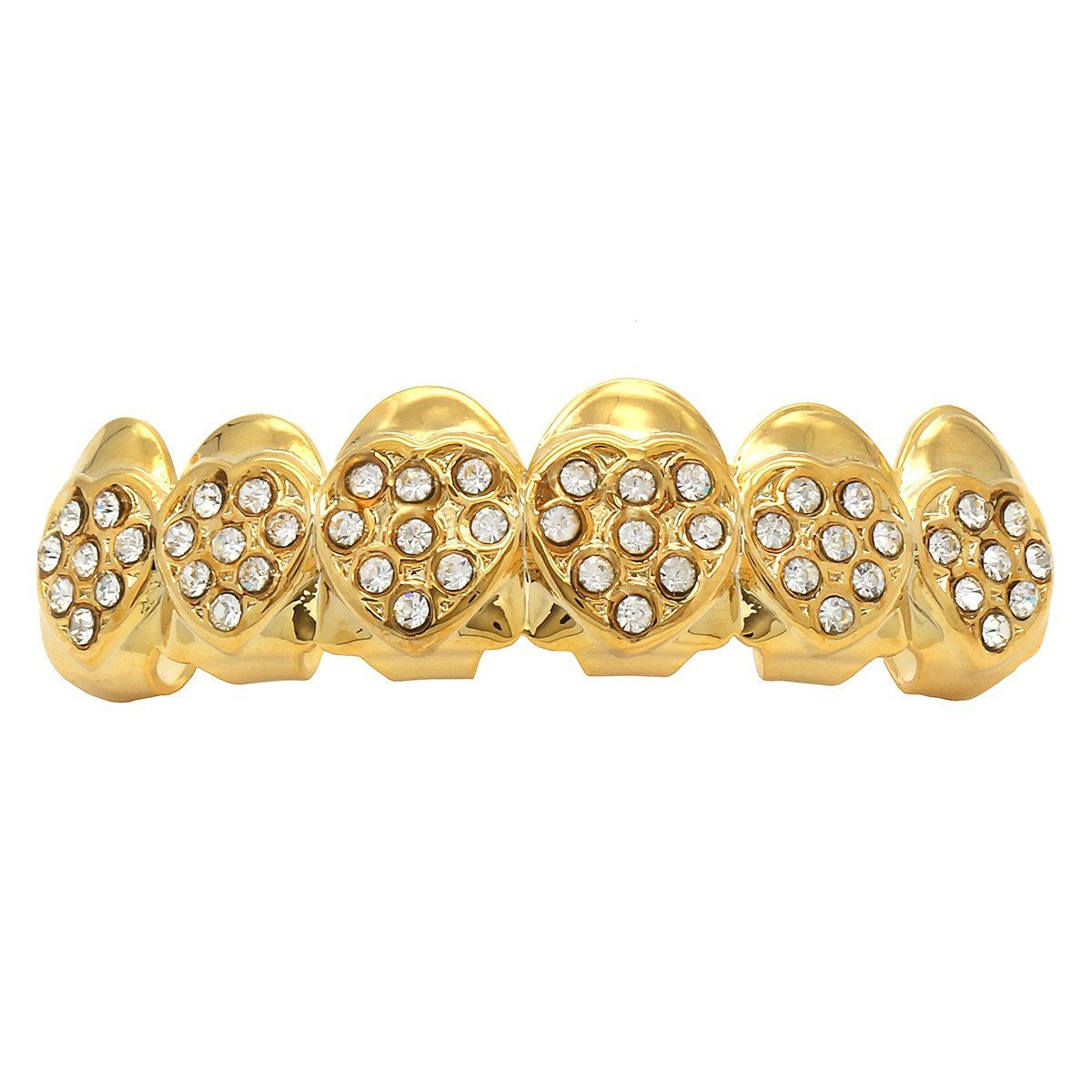 GOLD TOP GRILLZ HEARTS