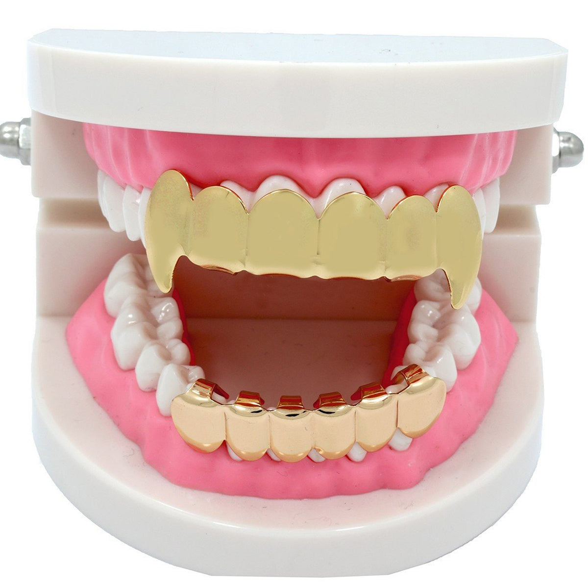GRILLZ SET GOLD FANG PLAIN BLINGKING